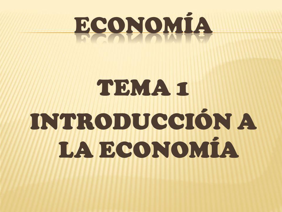 TEMA 1 INTRODUCCIÓN A LA ECONOMÍA