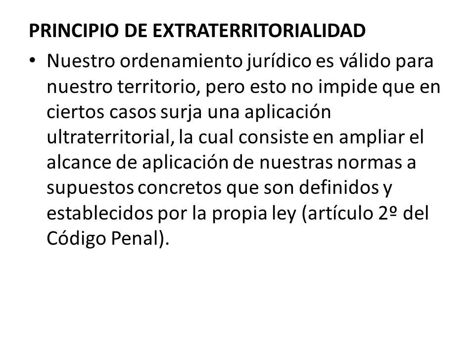 PRINCIPIO DE EXTRATERRITORIALIDAD