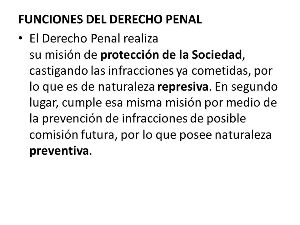FUNCIONES DEL DERECHO PENAL