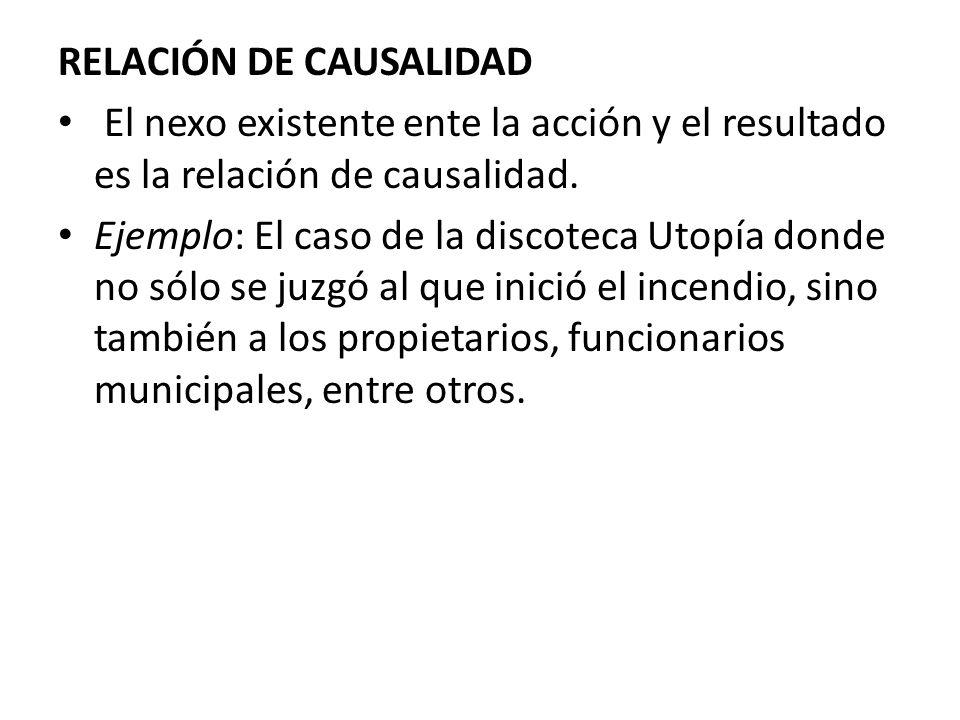 RELACIÓN DE CAUSALIDAD