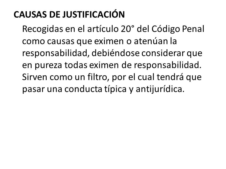 CAUSAS DE JUSTIFICACIÓN