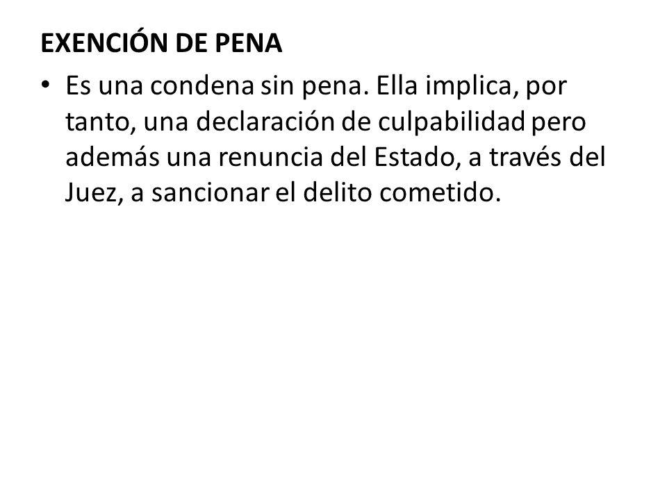 EXENCIÓN DE PENA