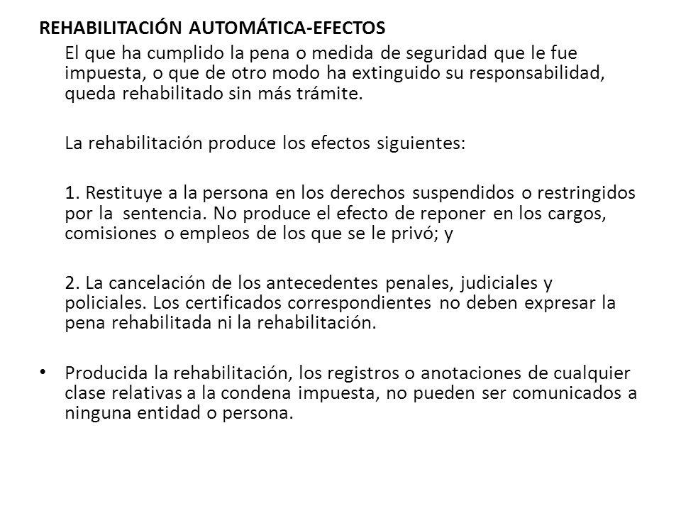 REHABILITACIÓN AUTOMÁTICA-EFECTOS