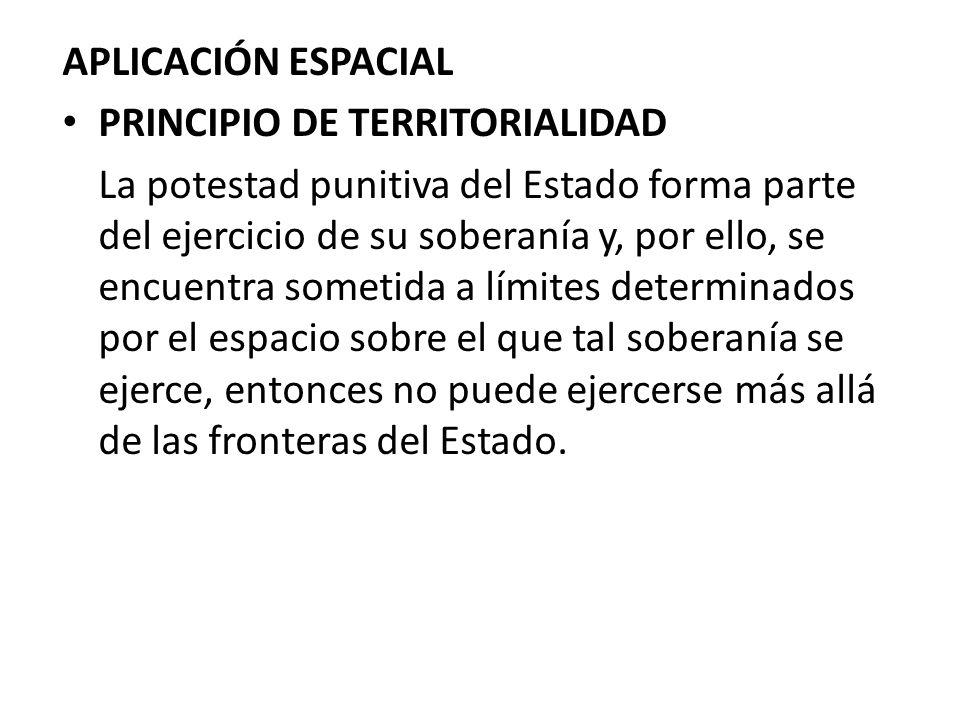 APLICACIÓN ESPACIAL PRINCIPIO DE TERRITORIALIDAD.