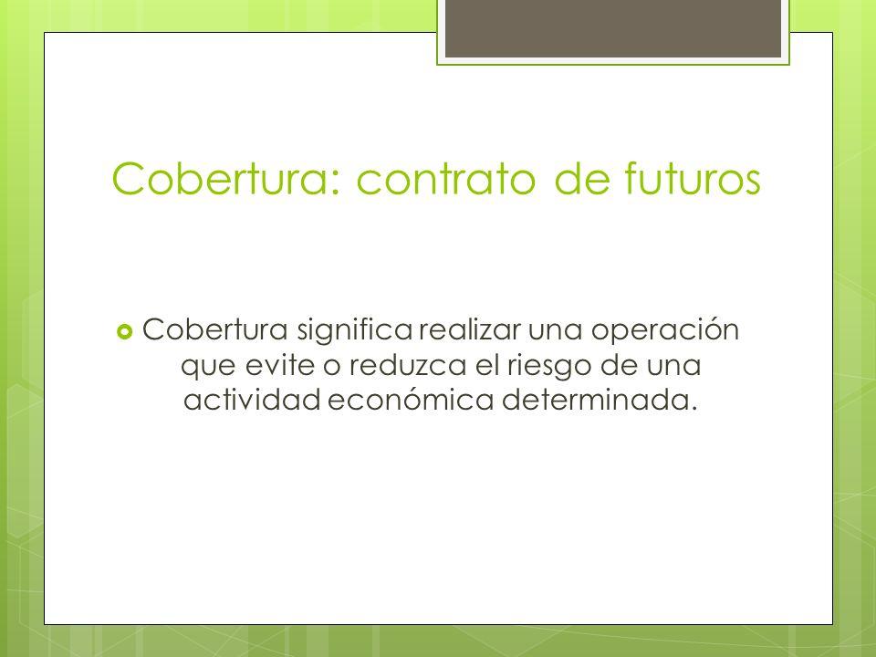 Cobertura: contrato de futuros