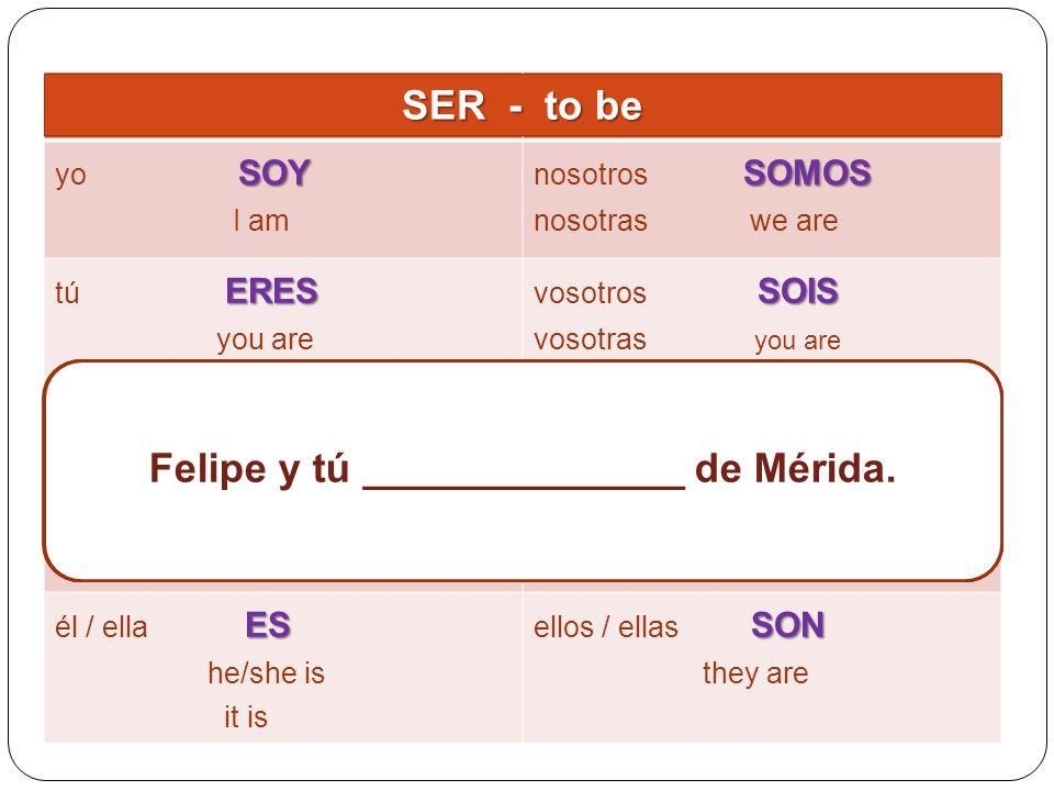María y yo ______________ de Sevilla.