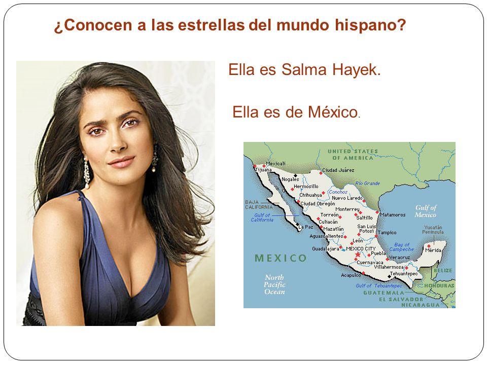 ¿Conocen a las estrellas del mundo hispano