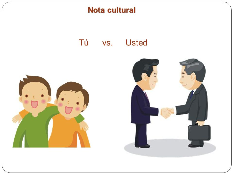 Nota cultural Tú vs. Usted