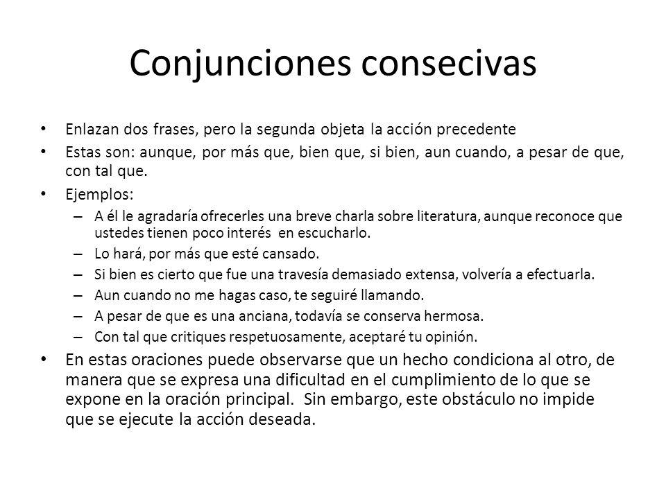 Conjunciones consecivas