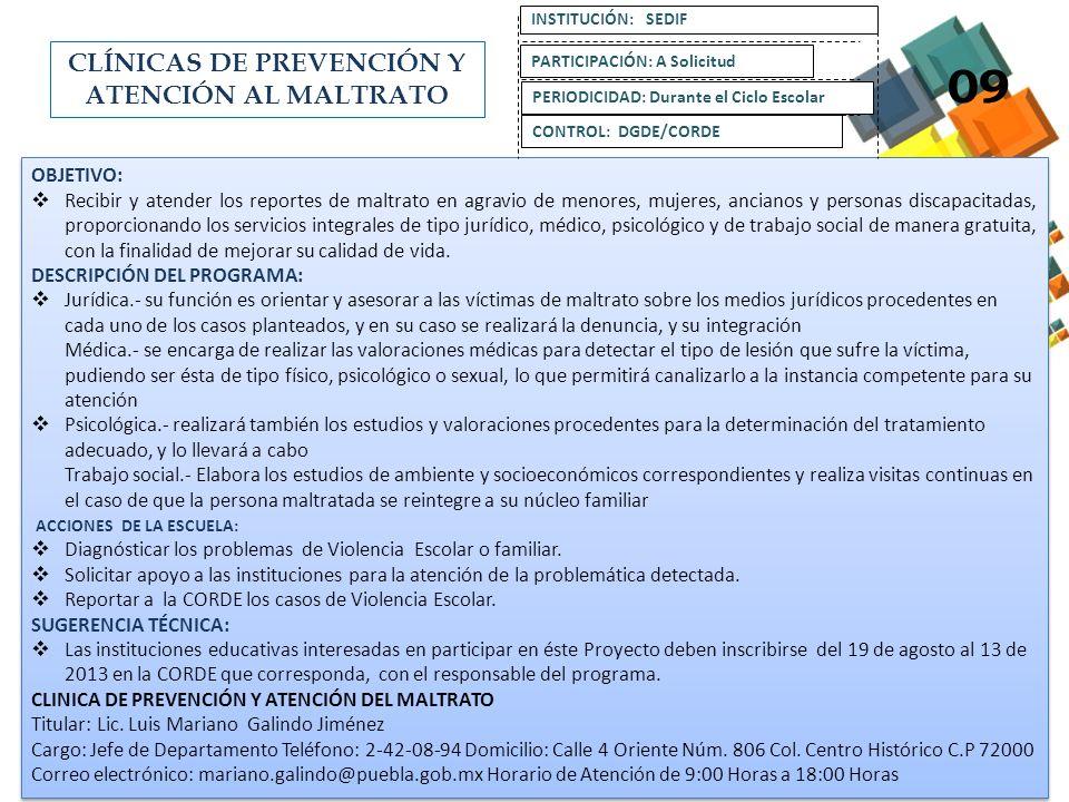 CLÍNICAS DE PREVENCIÓN Y ATENCIÓN AL MALTRATO