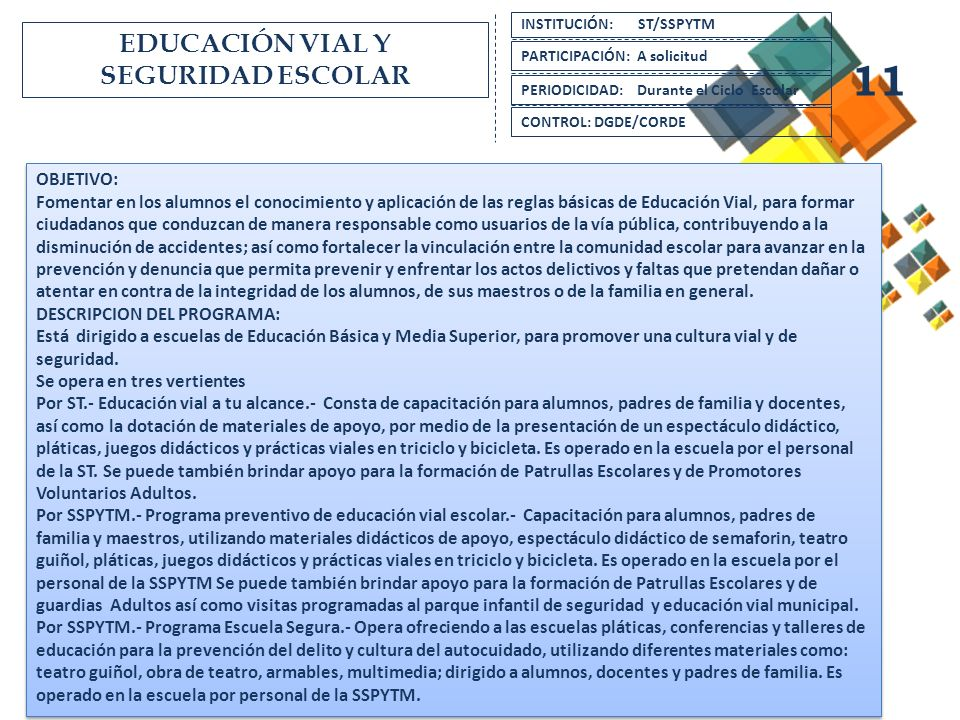 EDUCACIÓN VIAL Y SEGURIDAD ESCOLAR