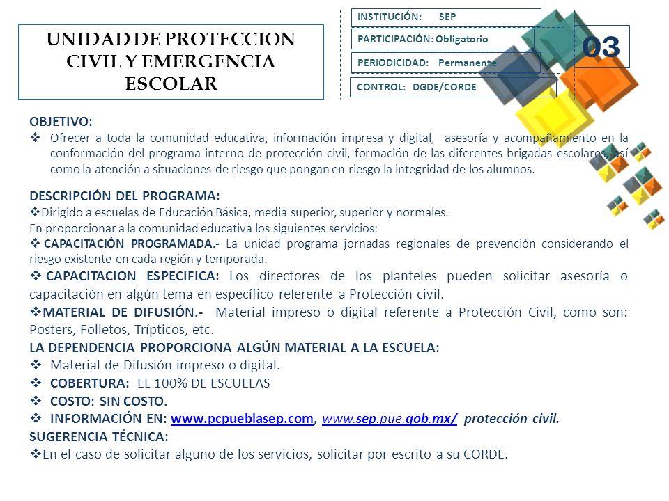 UNIDAD DE PROTECCION CIVIL Y EMERGENCIA ESCOLAR
