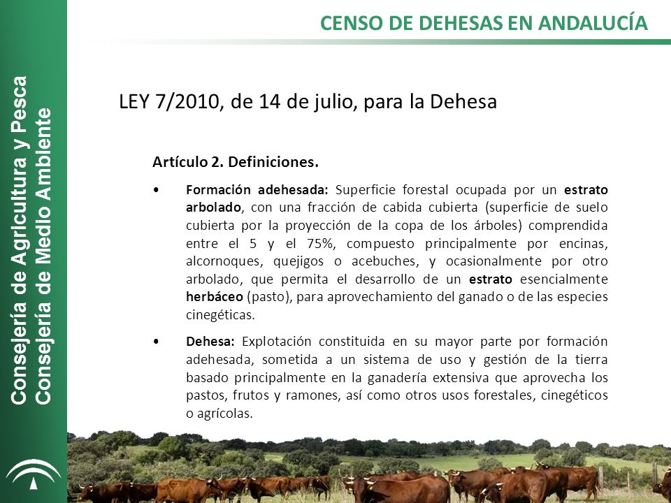 CENSO DE DEHESAS EN ANDALUCÍA