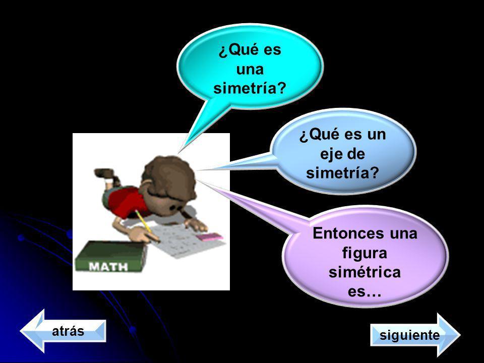 ¿Qué es un eje de simetría Entonces una figura simétrica es…