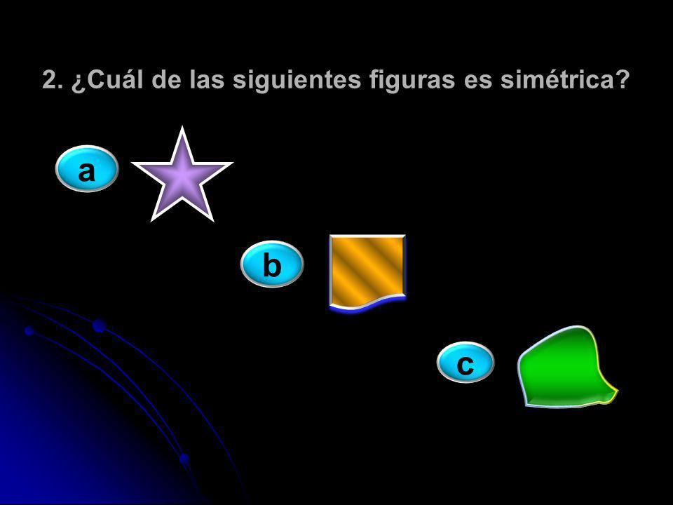 2. ¿Cuál de las siguientes figuras es simétrica