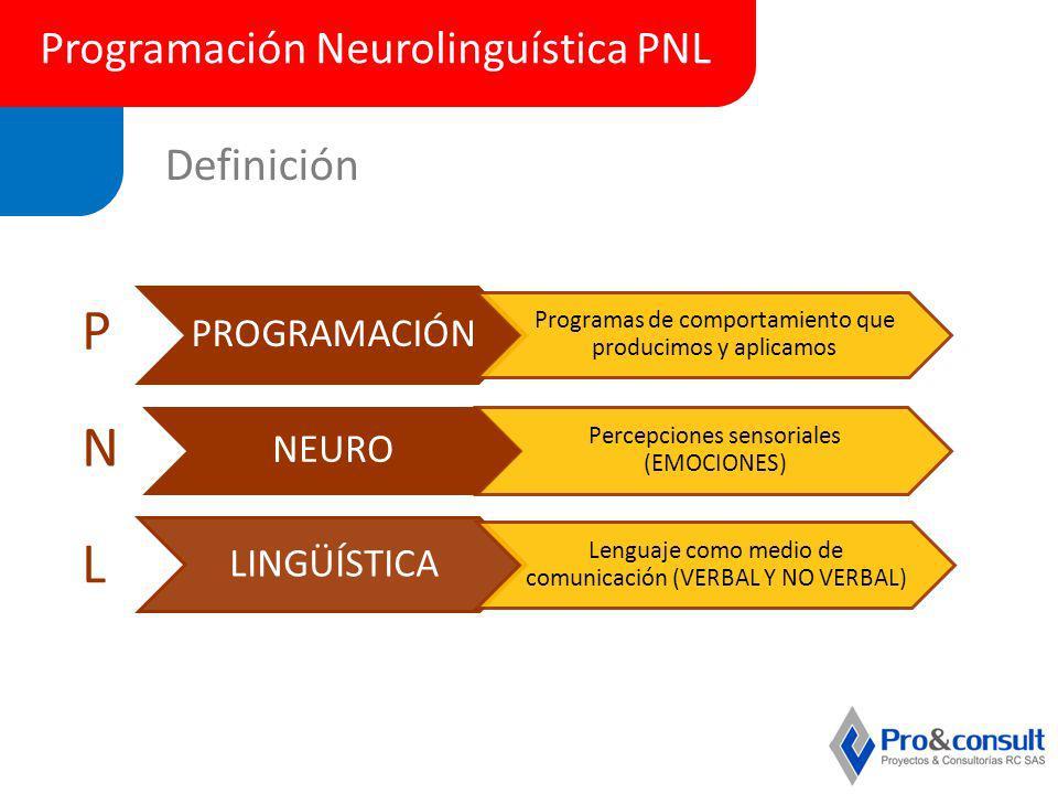 P N L Programación Neurolinguística PNL Definición PROGRAMACIÓN