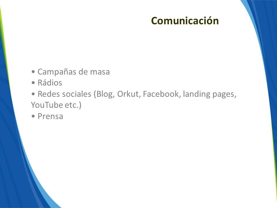 Comunicación Campañas de masa Rádios