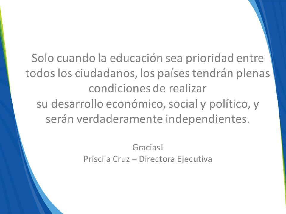Priscila Cruz – Directora Ejecutiva