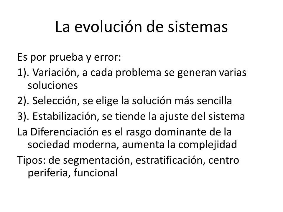 La evolución de sistemas