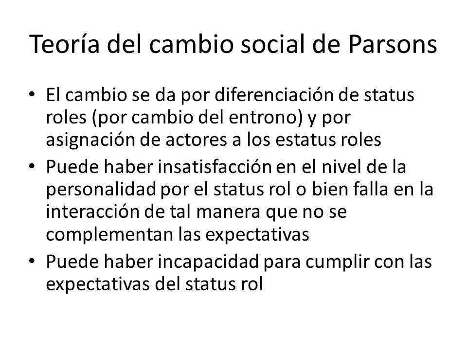 Teoría del cambio social de Parsons