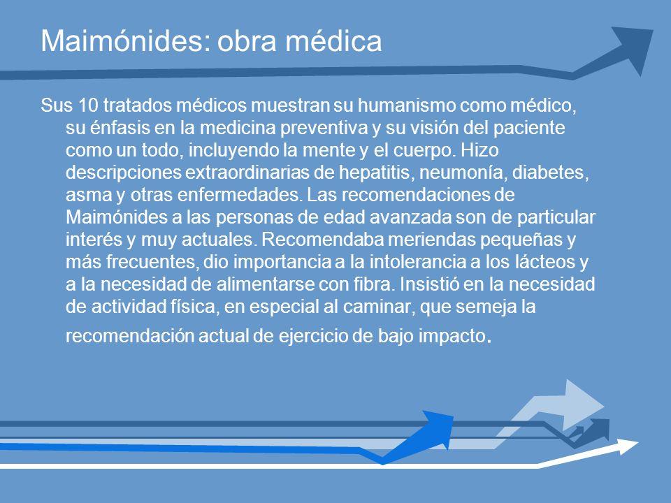 Maimónides: obra médica