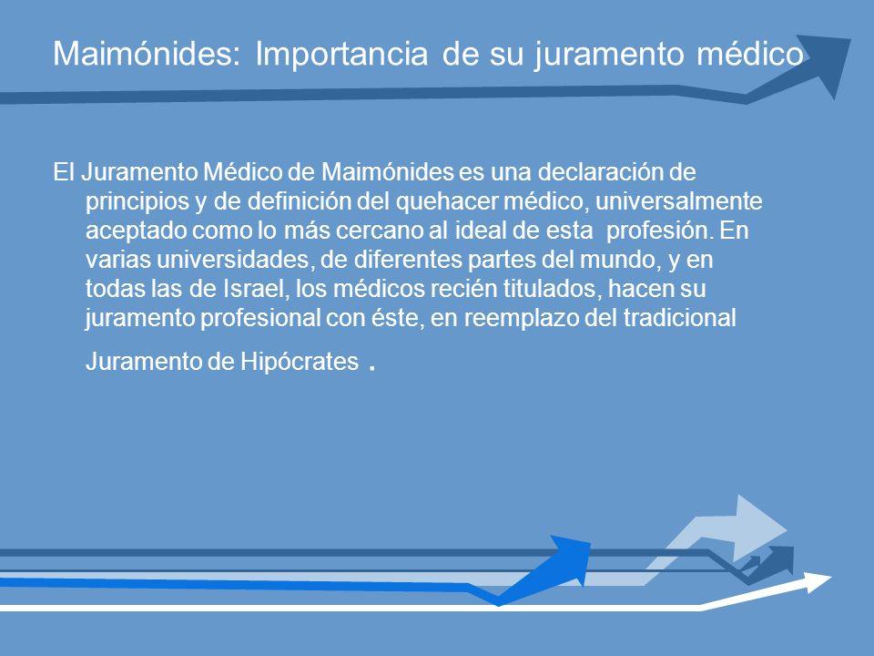 Maimónides: Importancia de su juramento médico