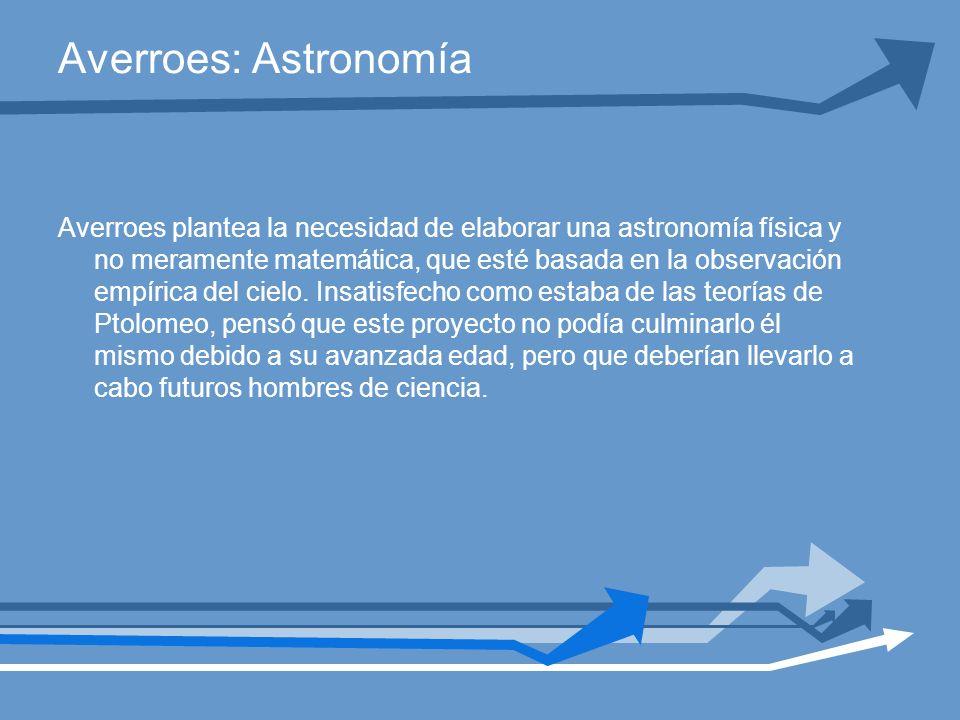 Averroes: Astronomía