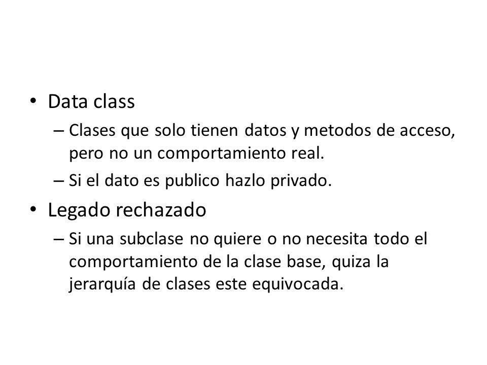 Data class Legado rechazado