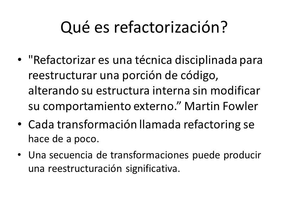 Qué es refactorización