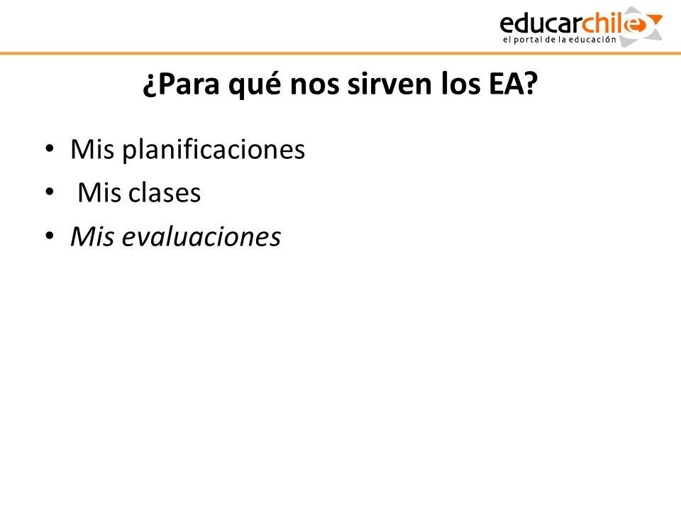 ¿Para qué nos sirven los EA