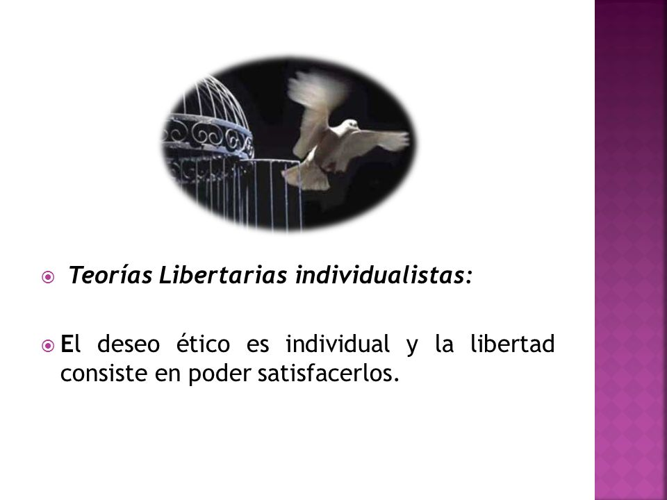 Teorías Libertarias individualistas: