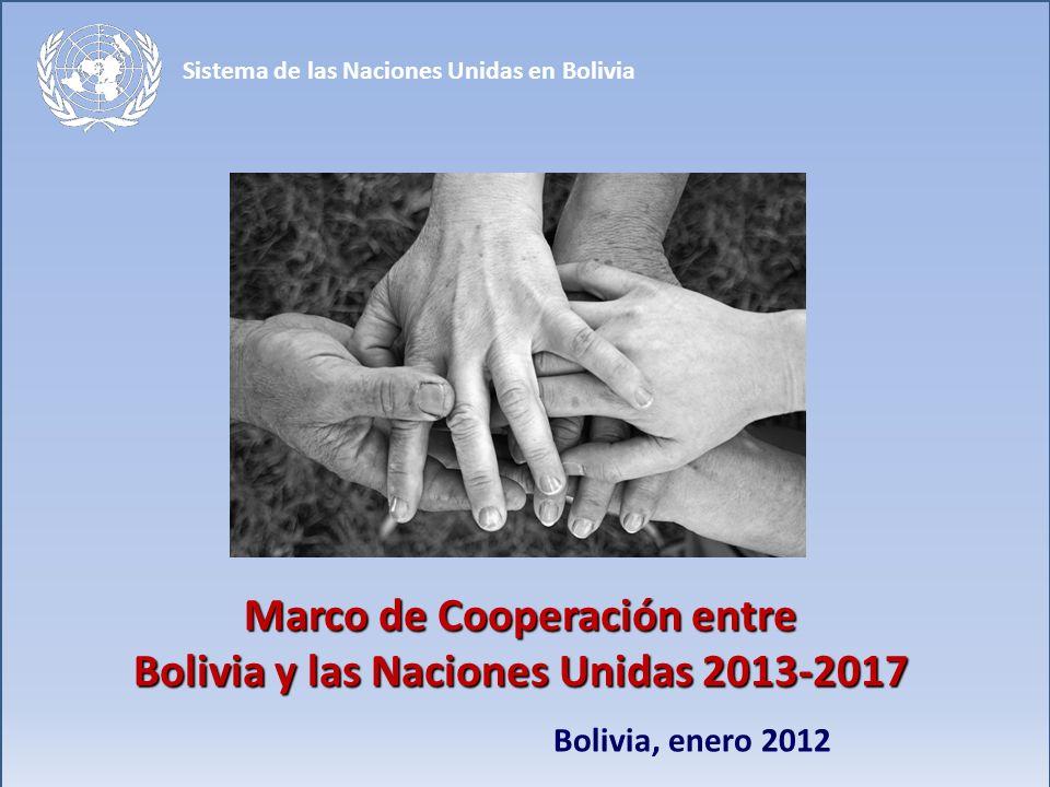 Marco de Cooperación entre Bolivia y las Naciones Unidas 2013-2017