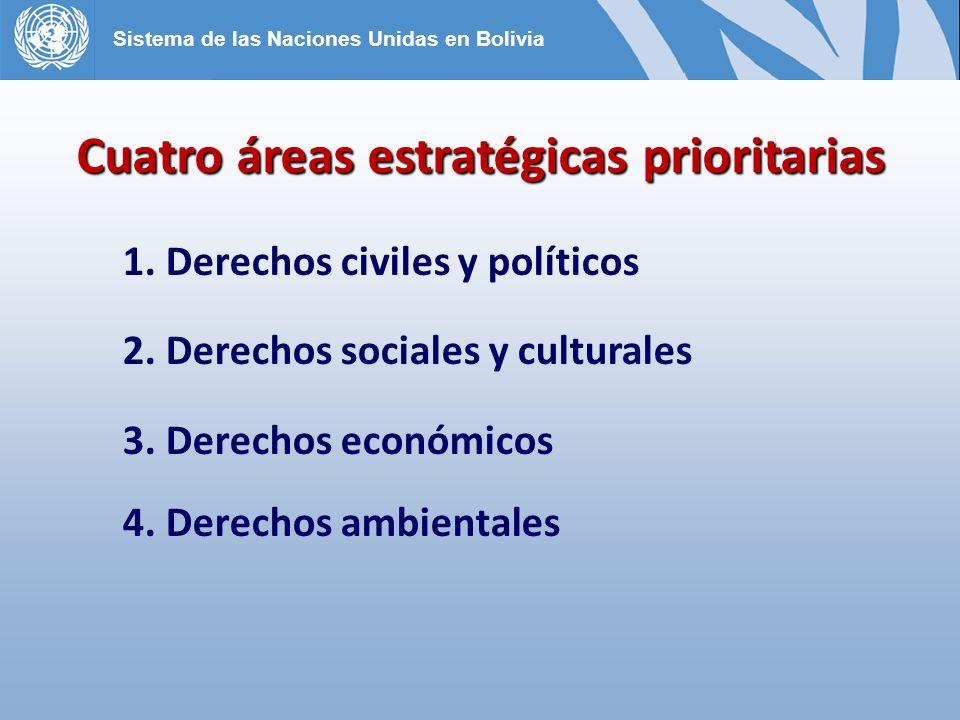 Cuatro áreas estratégicas prioritarias