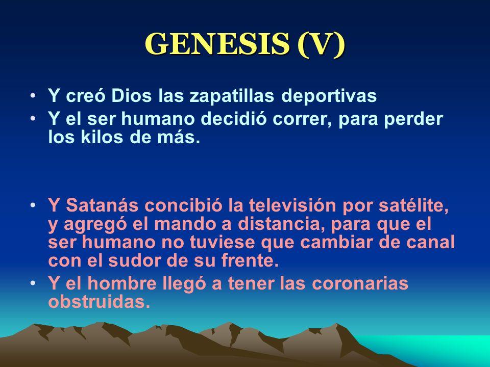 GENESIS (V) Y creó Dios las zapatillas deportivas