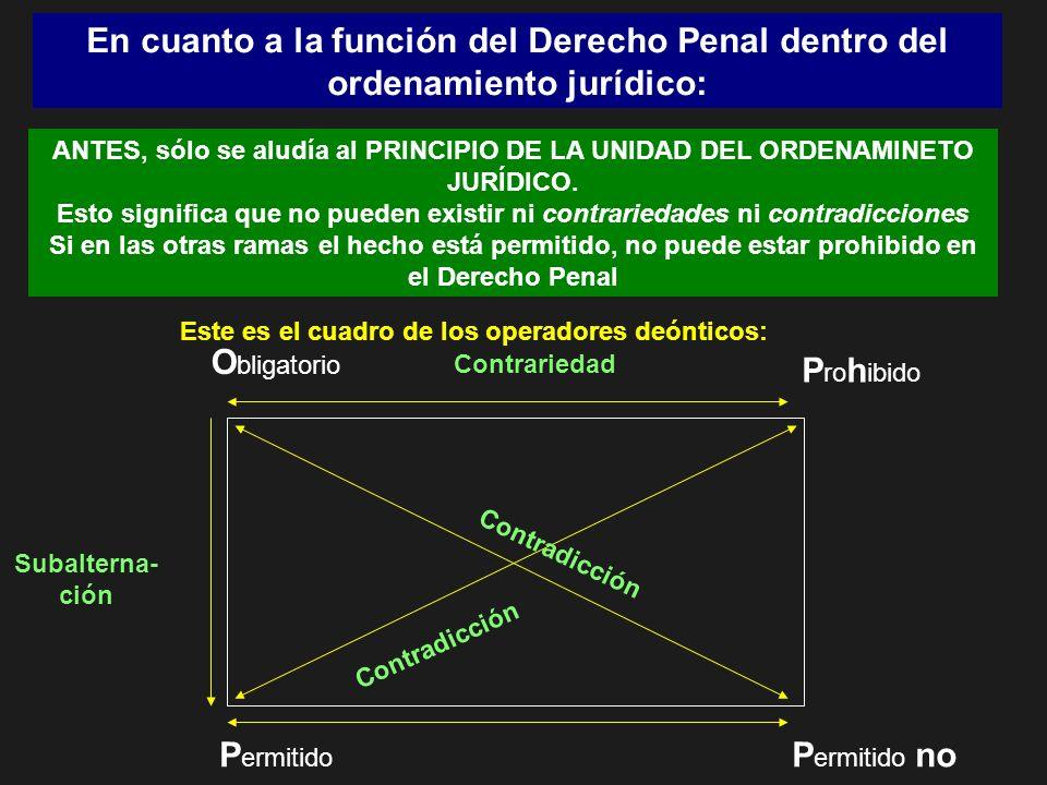 En cuanto a la función del Derecho Penal dentro del ordenamiento jurídico: