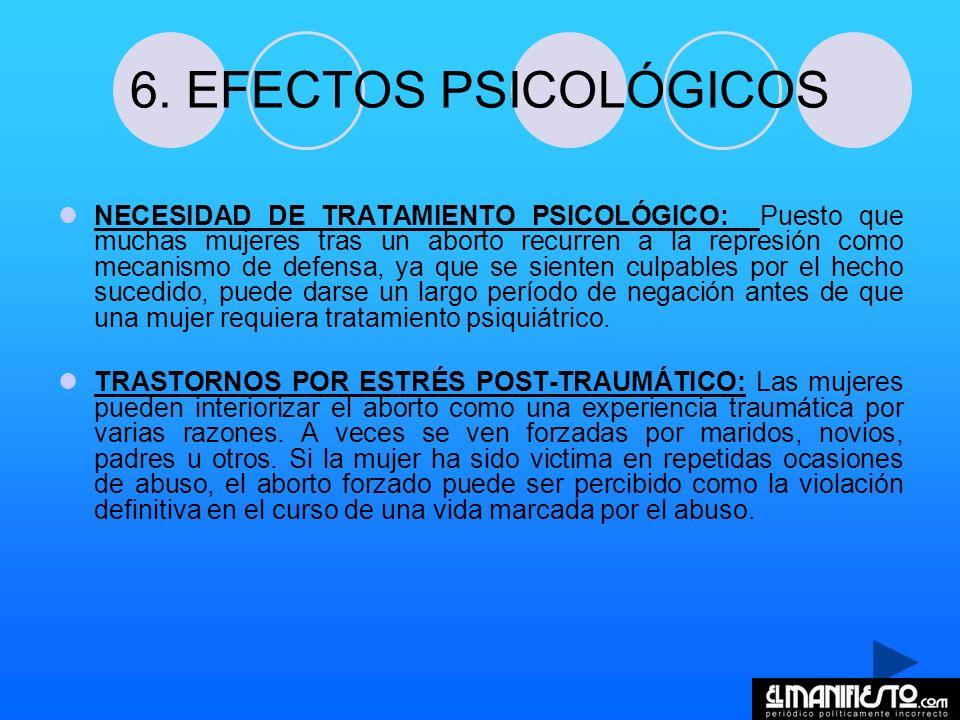 6. EFECTOS PSICOLÓGICOS