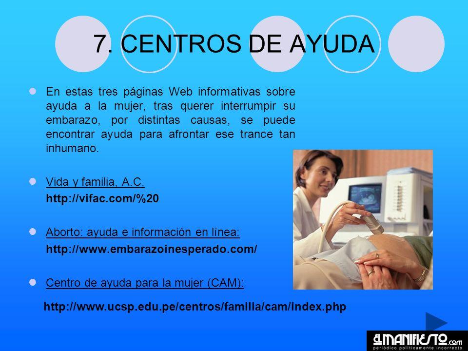 7. CENTROS DE AYUDA