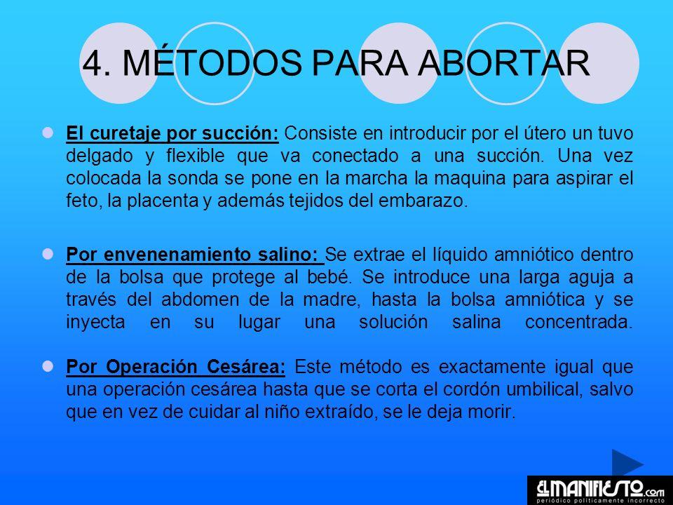 4. MÉTODOS PARA ABORTAR