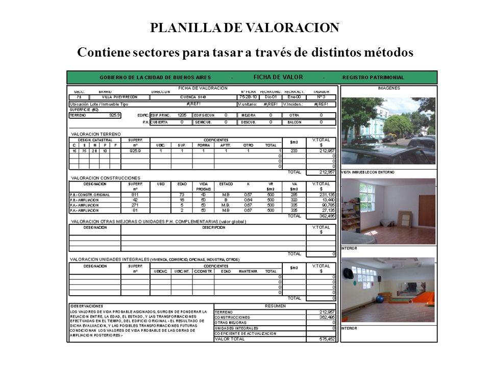 PLANILLA DE VALORACION