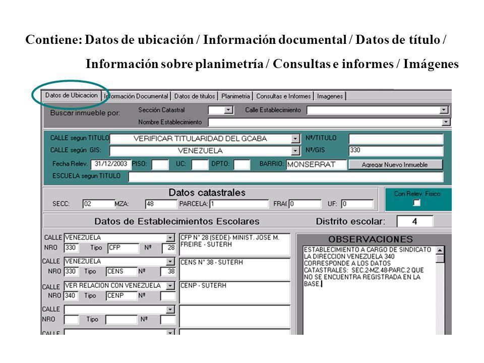 Contiene: Datos de ubicación / Información documental / Datos de título /