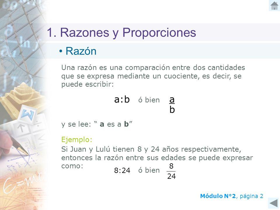 1. Razones y Proporciones