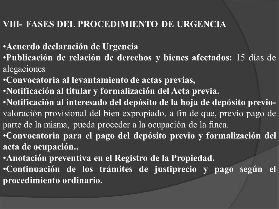 VIII- FASES DEL PROCEDIMIENTO DE URGENCIA