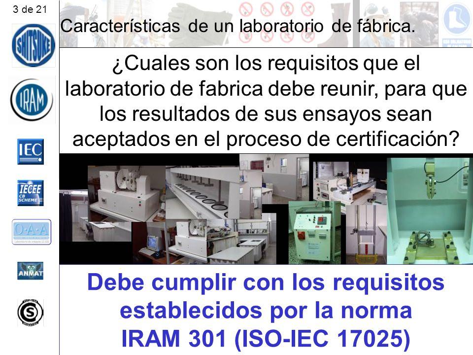 3 de 21 Características de un laboratorio de fábrica.