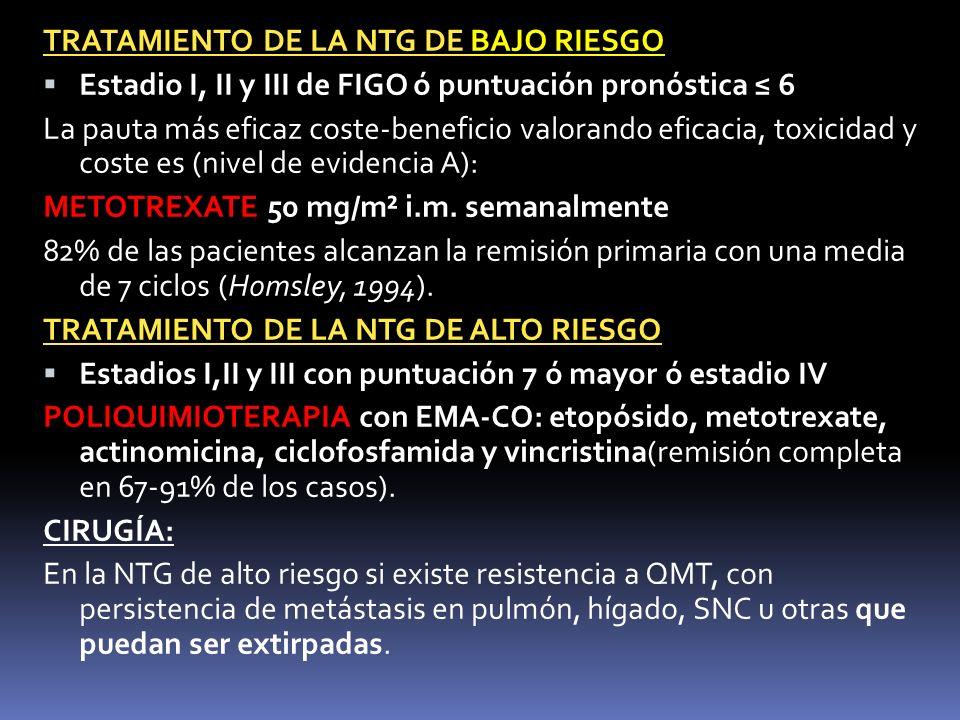 TRATAMIENTO DE LA NTG DE BAJO RIESGO