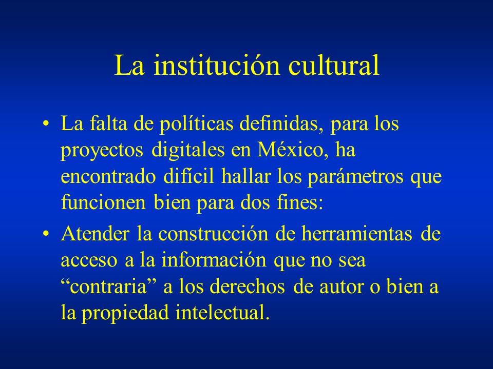 La institución cultural