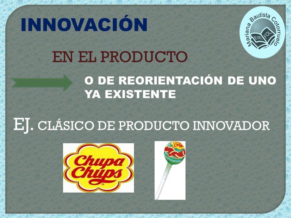 EJ. CLÁSICO DE PRODUCTO INNOVADOR