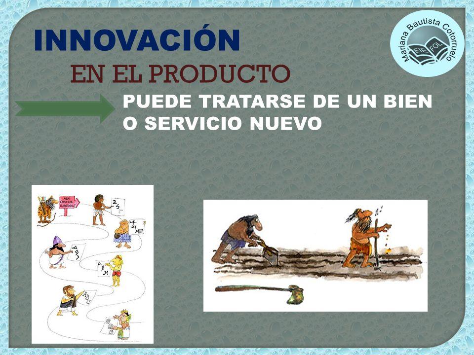 INNOVACIÓN EN EL PRODUCTO PUEDE TRATARSE DE UN BIEN O SERVICIO NUEVO