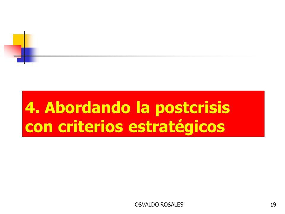4. Abordando la postcrisis con criterios estratégicos