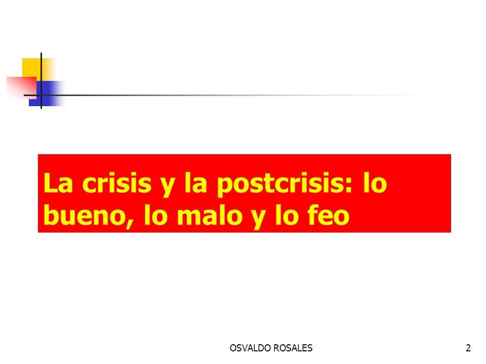 La crisis y la postcrisis: lo bueno, lo malo y lo feo