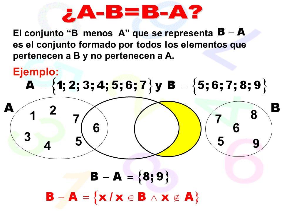 ¿A-B=B-A